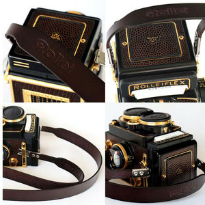 Image 5 - Wide Leather Neck Strap With Clips For Rolleiflex 2.8E 2.8F 2.8FX 3.5E 3.5F 3.5C