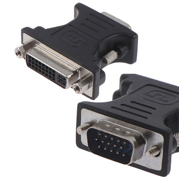 ALLOYSEED 24 + 5Pin DVI Female to 15Pin VGA Male Cable Extender Adapter Converter Cable Connector For HDTV CRT Monitor Projector image