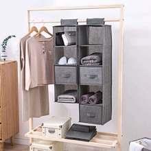 Drawer Type Clothes Hangers Holder Wardrobe Portable Organizer Hanging Interlayer Storage Bag Hanging Closet Organizer