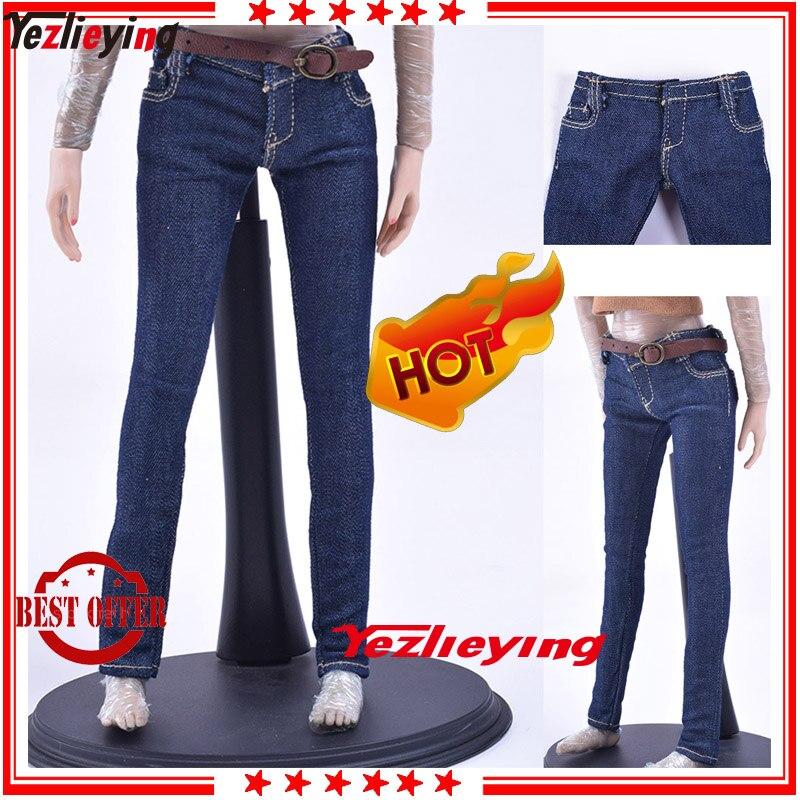 """1//6 Female Denim Short Pants Clothes Model Accessories for 12/"""" Action Figure"""