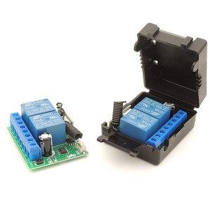 Image 2 - 433Mhz Universele Draadloze Afstandsbediening DC12V 2200W 2CH Rf Relais Ontvanger Voor Universele Garage En Deuropener Controller