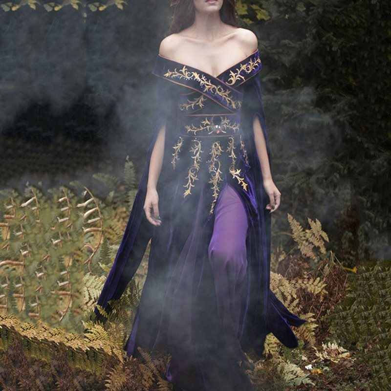 Rosetic ผู้หญิง Vintage เซ็กซี่ลึก V คอหญิง Gothic Cosplay Party Dresses