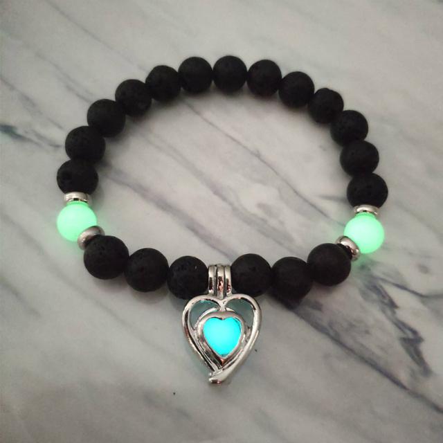 2019 New Natural Volcanic Stone Bracelet for Men Women Luminous Fluorescence Fashion Bracelet Handmade Delicacy Accesories