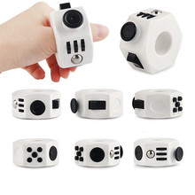 Anti Stress Cube Adult Office Decompression Dice Hand Fidget Ring Toy Autism Anxiety Stress Relief Spinner Squeeze Toys