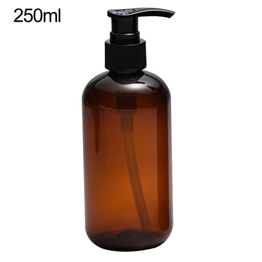 250/500 مللي مضخة الصحافة واضحة زجاجة فارغة إعادة الملء شامبو موزع الصابون السائل