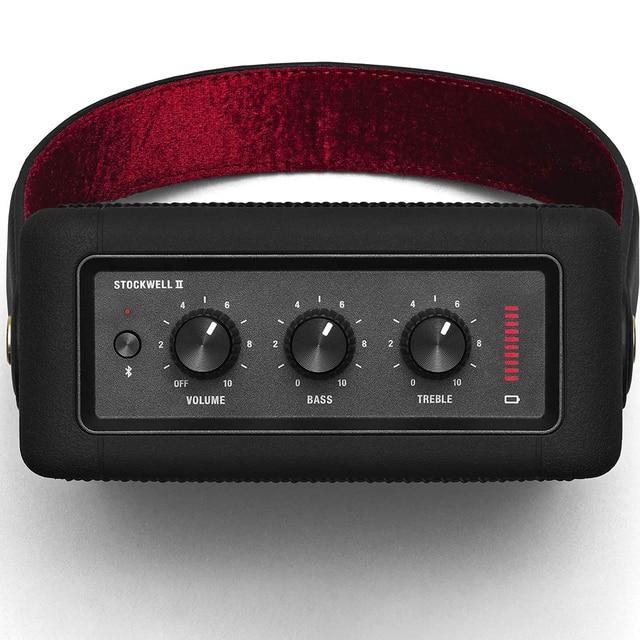 Portable wireless bluetooth speaker rock retro audio speakers for stockwell i ii BT bass Speaker Black Play time 20+h 5