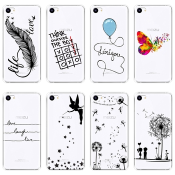 Phone Case For Meizu Pro 6 7 Plus U10 U20 Case Silicone Quote Tinker Bell Soft Back Cover For Meizu 16th 16x 15 Lite 16 Plus image