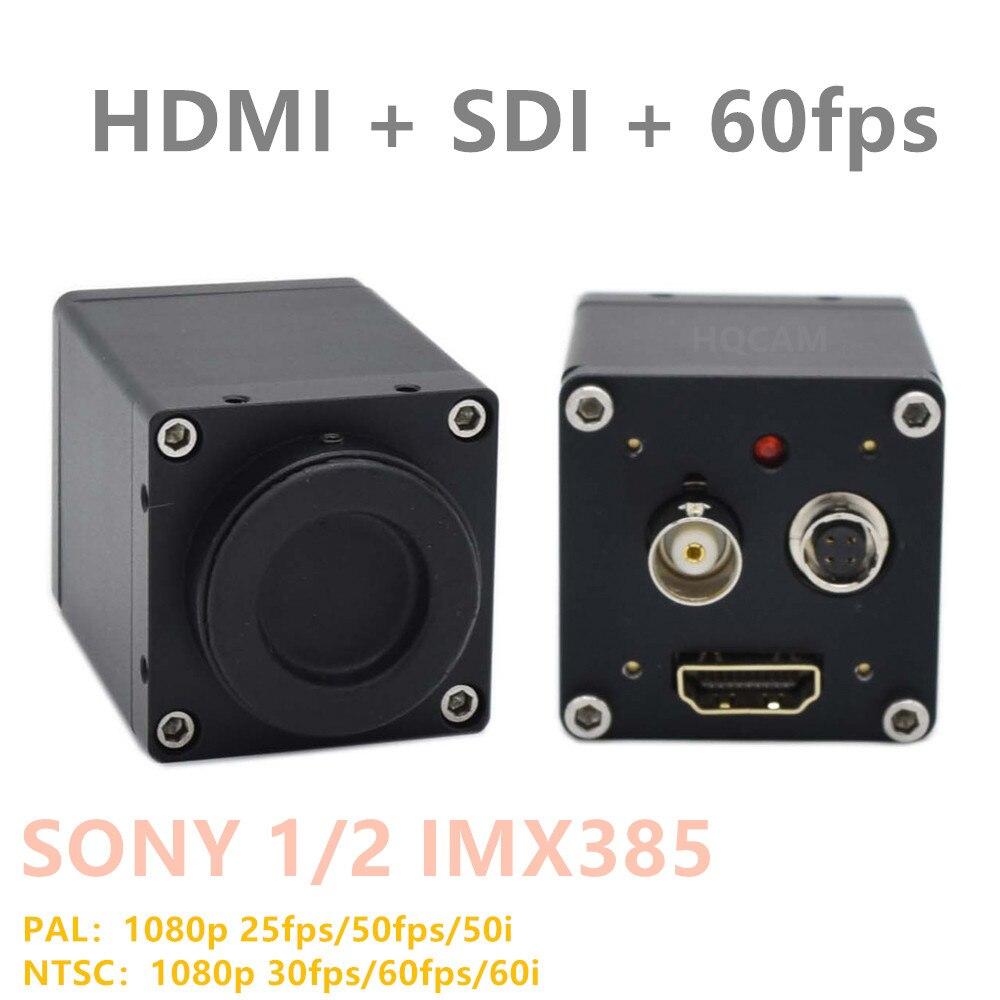 HDMI SDI IMX385 1/2 cmos WDR LUX CCTV industrielle vidéo en direct EX HD-SDI 1080P 1080i 60fps 50fps boîte de sécurité SDI caméra 485 232