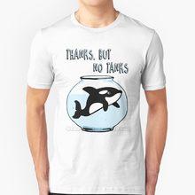 Obrigado mas não tanques-orcas manga curta t camisa streetswear harajuku verão de alta qualidade camiseta topos orca tanques seaworld mar