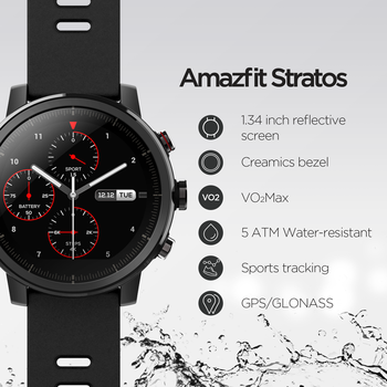 Original Amazfit Stratos Smartwatch Smart Watch GPS Calorie Count 50M Waterproof for Android iOS Phone 2
