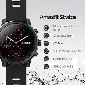 Image 2 - Оригинальный Amazfit Stratos Смарт часы Bluetooth GPS подсчет калорий монитор сердца 50 м Водонепроницаемый для iOS и Android телефон