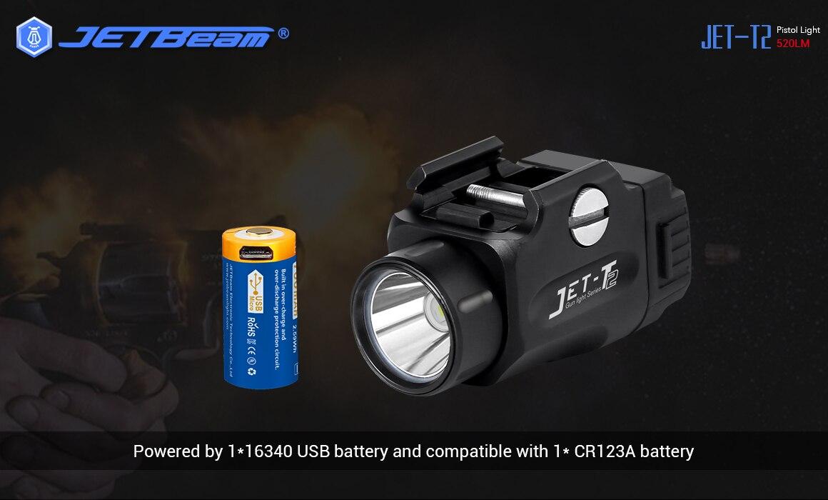 Jetbeam t2 original lanterna led carga usb