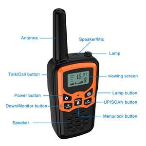 Image 5 - (2pcs) mini Palmare Walkie Talkie Radio Portatile Ad Alta Potenza VHF Portatile Bidirezionale Ham Radio Communicator Transceiver рация 5 KM
