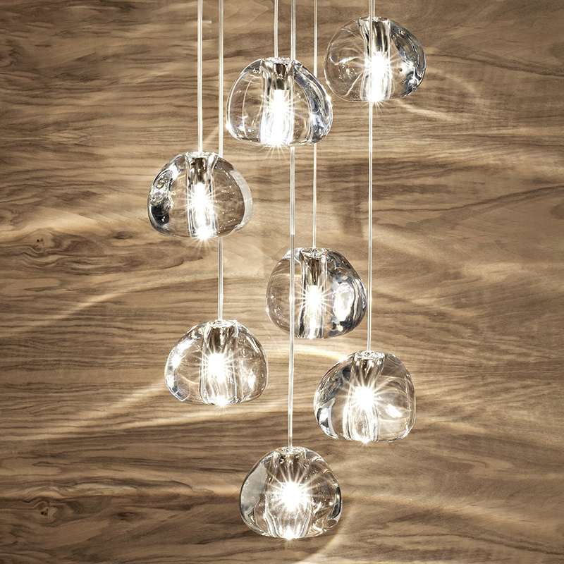 YOOGEE Crystal Ball Chandlier lighting Modern Living room Hanging Lamp Kitchen Clear Cristal Chandlier Lobby LED Indoor Lighting