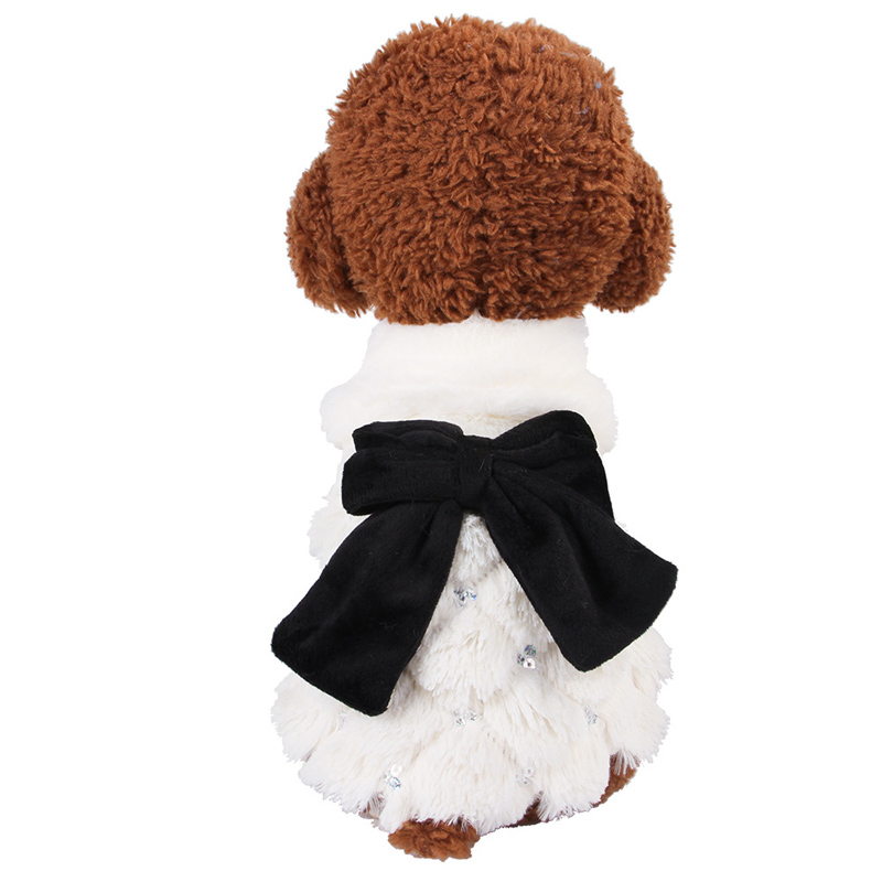 Pet <font><b>Dog</b></font> Princess <font><b>Dress</b></font> Clothes Autumn Winter <font><b>Dogs</b></font> Skirt Coat Bichon Teddy For <font><b>Dogs</b></font> Cats Puppy Bow-knot Clothes XS S M L XL <font><b>XXL</b></font> image