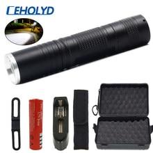 Lampe torche puissante pour vélo, 8000 Lumens, U3 T6, 5 modes, zoom, lentille, alimentation par batterie rechargeable 18650