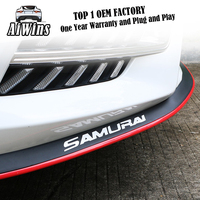 Aiwins Car Front Lip Bumper Skirts Anti Scratch Car Sticker Body Kit Spoiler Bumpers Rubber Auto Protector Strip Decoration