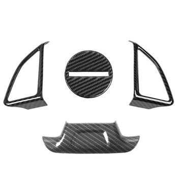 4Pcs Carbon Fiber Steering Wheel Cover Trim for Chevy Camaro 2017+