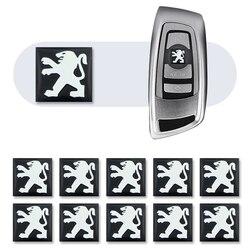 10 pcs 15mm Controle Remoto Chave Emblema Etiqueta Do Logotipo para Peugeot 107 108 206 207 308 307 508 2008 3008 estilo do carro Styling