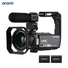 "ORDRO Video Kamera 4K WiFi Digital Camcorder DV 30MP 16X 3 ""IPS Touchscreen 0,39 X Weitwinkel Objektiv + Mic + Len Haube + Halter Freies durch DHK"