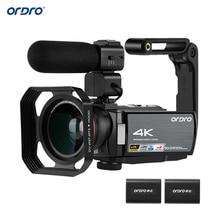 """ORDRO caméra vidéo 4K WiFi caméscope numérique DV 30MP 16X 3 """"IPS écran tactile 0.39X objectif grand Angle + micro + Len hotte + support gratuit par DHK"""