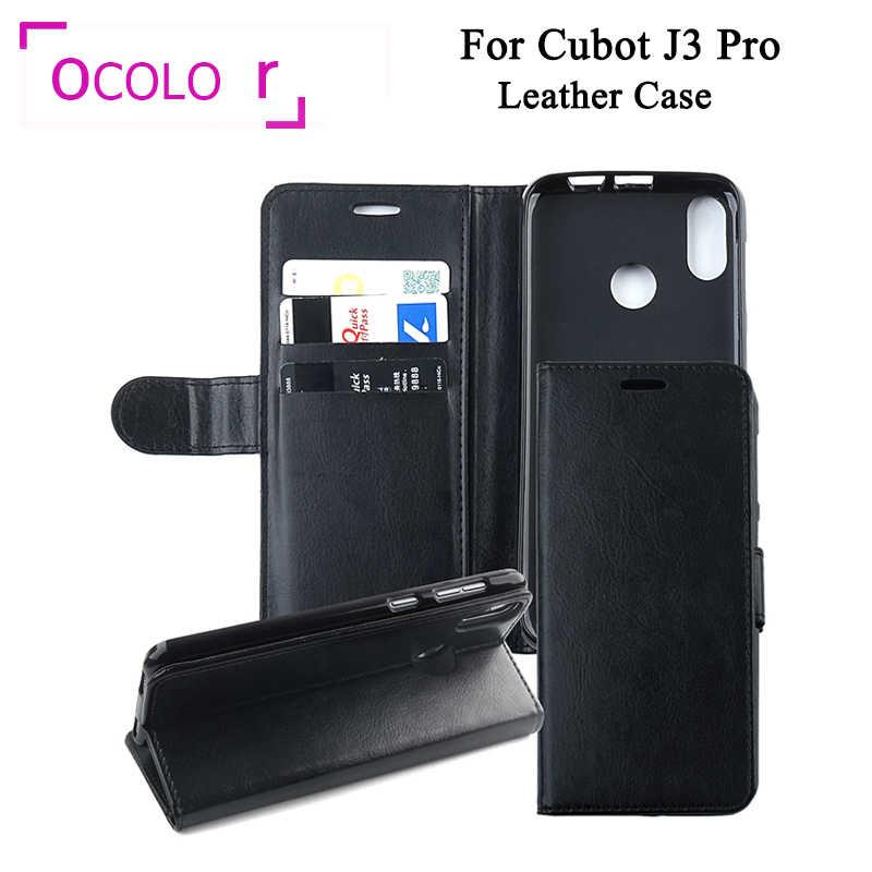 Ocolor pour Cubot J3 Pro étui en cuir portefeuille porte-cartes de crédit avec Coque en silicone pour Cubot J3 Pro Coque PU Coque 5.5''