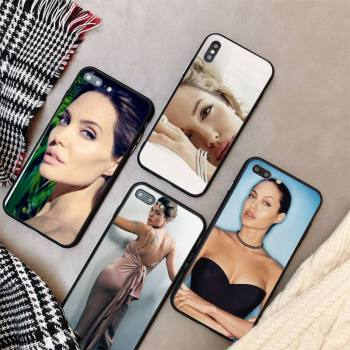 Yinuoda Angelina Jolie Phone Case cover For iPhone X 8 7 6 6S Plus XS MAX 5 5S SE XR 11 12 Pro Promax coque image
