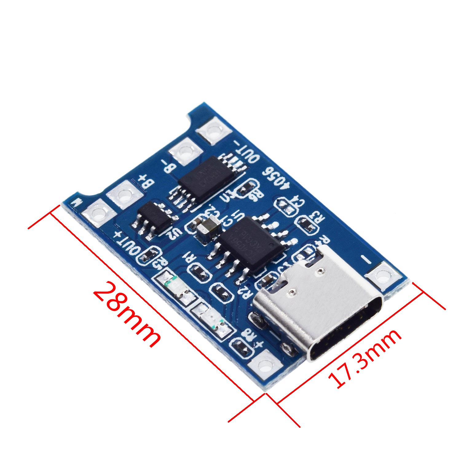 5pcs Micro/Type-c USB 5V 1A 18650 TP4056 Lithium Battery Charger Module Charging Board With Protection Dual Functions 1A Li-ion 2
