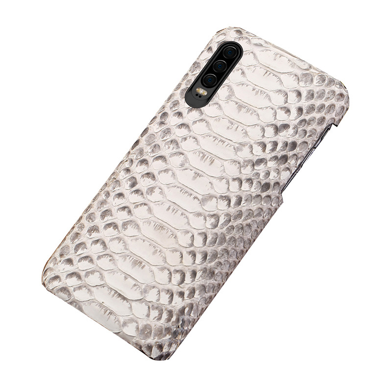 For Huawei p30 lite case coque Genuine Python Leather For huawei p30 pro cover snakeskin phone case for huawei p30 lite case