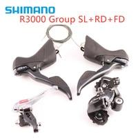 Shimano R3000 9 speed ROAD Bike Rear Derailleur Long Cage GS shifter + Front Rear + Derailleur