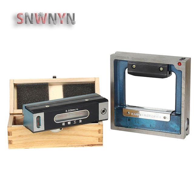 0.02/0.05mm 100/150/200/250/300mm Mechanical Frame level Bar Level Meter Instrument Measuring Tools for Equipment Adjustment