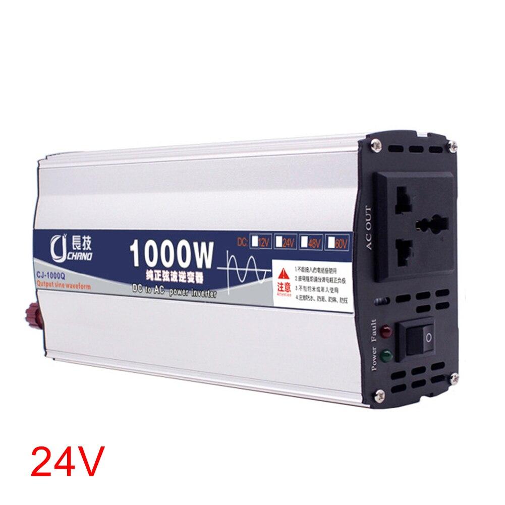 600W 1000W Power Inverter Supply Practical Car Pure Sine Wave Converter Surge Protection Adapter Transformer 12V 24V To 220V