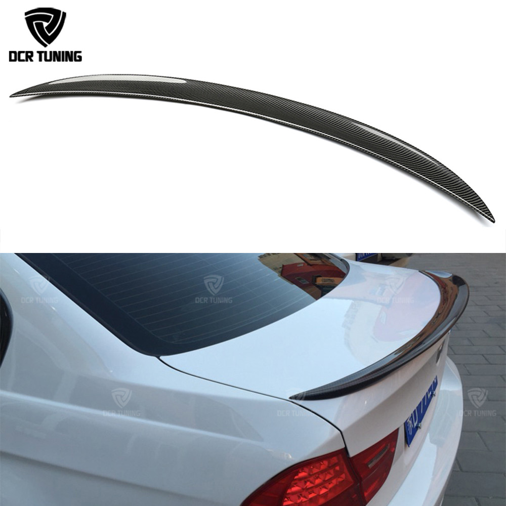 Per spoiler BMW E90 E90 ed E90 M3 spoiler bagagliaio posteriore in fibra di carbonio 318i 320i 325i 330i 2005-2011 E90 berlina ala posteriore CF spoiler