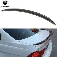 For BMW E90 spoiler E90 & E90 M3 carbon fiber rear trunk spoiler 318i 320i 325i 330i 2005 2011 E90 sedan rear wing CF Spoiler