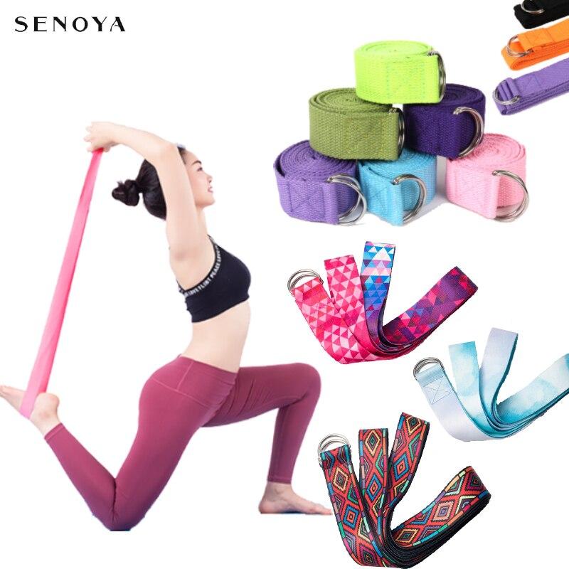 Yoga Adjustable Belt Multi-Colors Yoga Stretch Strap D-Ring Belt Washable Sport Stretch Strap Waist-Leg Fitness