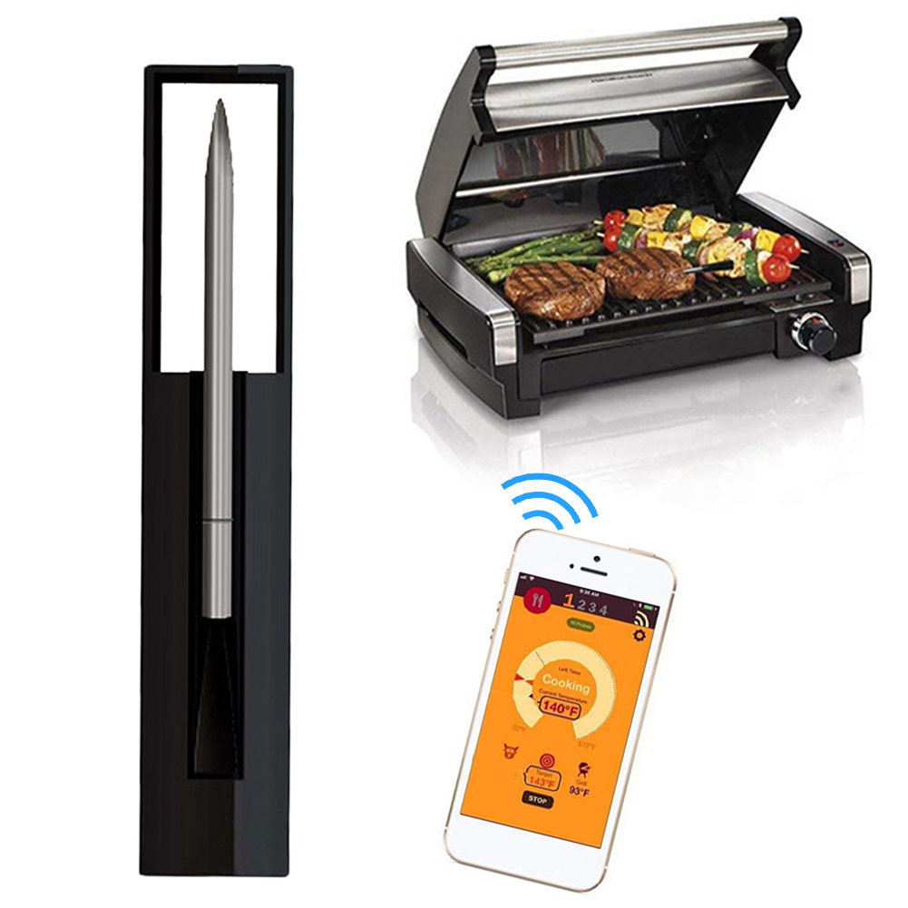 Wireless Meat Thermometer Smart Bluetooth Connection Meat Temperature Detector with Alarm for BBQ Grill Oven Kitchen tools
