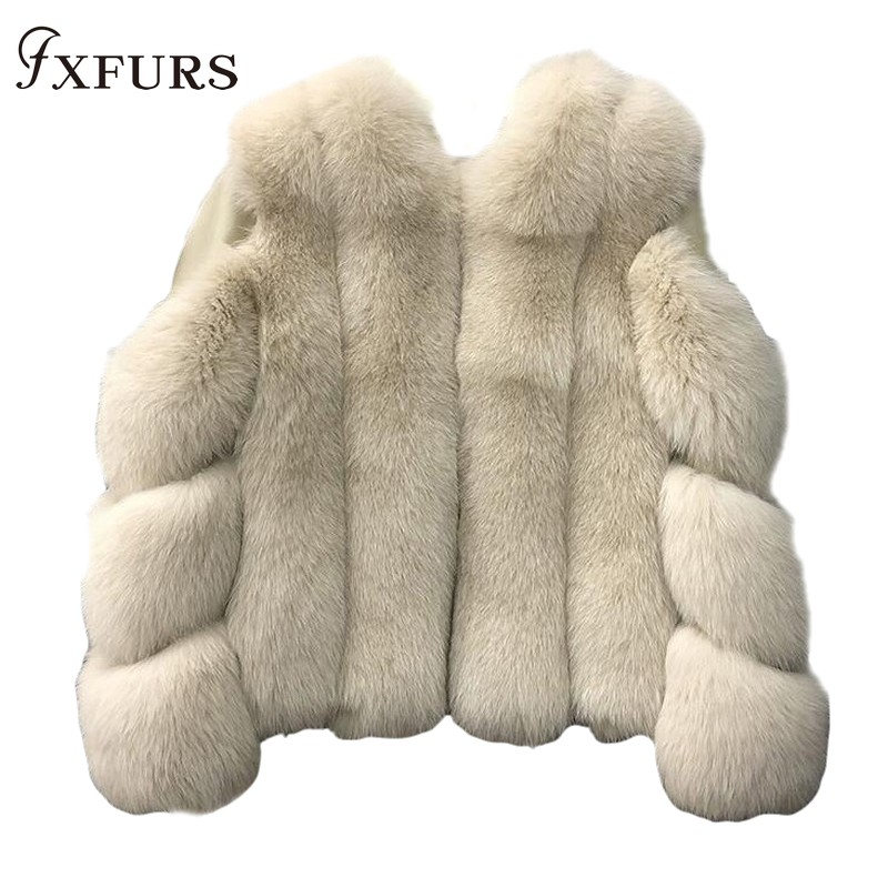 Outerwear Coat Fur-Jackets Russian-Clothing Natural Winter Women Luxury New Warm Pelt