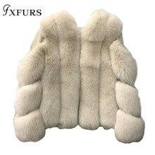 2019 New Women Luxury Fox Fur Coat High Quality Female Natural Fur Jackets Winter Warm Fur Outerwear Russian Clothing Fur Pelt стоимость