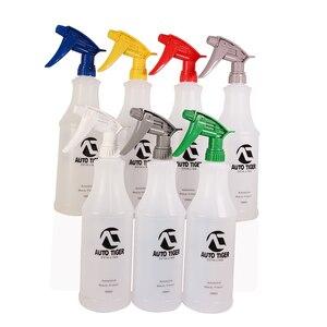 Image 5 - 1Pc Professional 1000ML Ultra feinen Wassernebel Zylindrischen Spray Flasche HDPE Chemische Beständig Sprayer Für QD Flüssigkeit auto detail