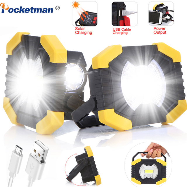 100W Led Portable Spotlight 8000lm Super Bright Led Work Light Rechargeable for Outdoor Camping Lampe Led Flashlight 1