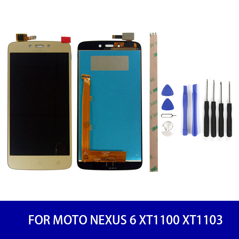 Lcd Display For Motorola Moto C Plus <font><b>XT1723</b></font> LCD Display + Touch Screen Digitizer Assembly Screen Display 1280x720 image