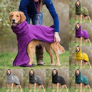 Gorąca sprzedaż europejska i amerykańska odzież dla zwierząt polar Velvet Golden Retriever Dog grube ciepłe ubrania artykuły dla zwierząt dla DropShipper tanie i dobre opinie CN (pochodzenie) fleece Jesień zima moda 1*Pet clothing