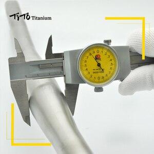 Image 5 - Darmowa wysyłka z MTB tytanu kierownica rowerowa płaska kierownica 31.8 lub 25.4*600/620/640/660/680/700/720mm projekt własne logo