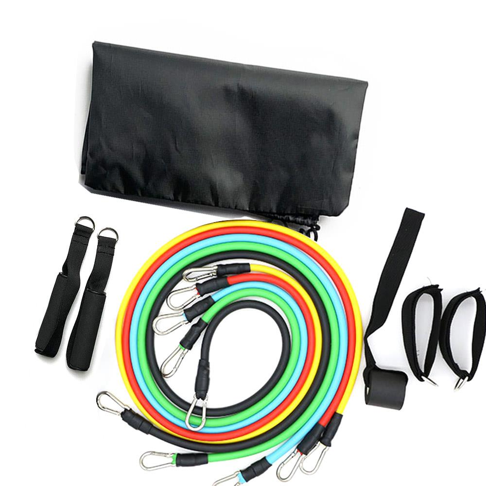 9/11pcs Fitness Pull Rope Resistance Bands TPE Elastic Rubber Band Training Chest Expander Yoga Pull Rope Home Sports Fitness