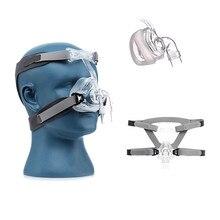 NM1/NM2 قناع الأنف CPAP قناع غطاء الوجه عند النوم مع أغطية الرأس S/M/L حجم مختلف مناسبة لآلة CPAP ربط خرطوم والأنف