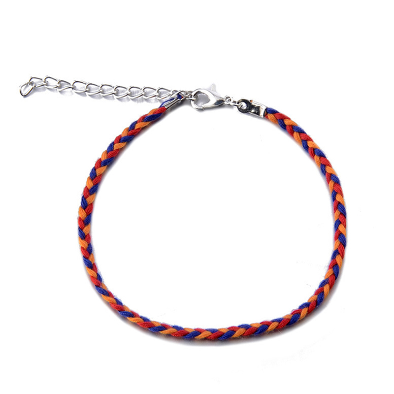 4Pcs/Set Beach Charm Rope String Anklets For Women Summer Ankle Bracelet Sandals On The Leg Chain Foot Jewelry
