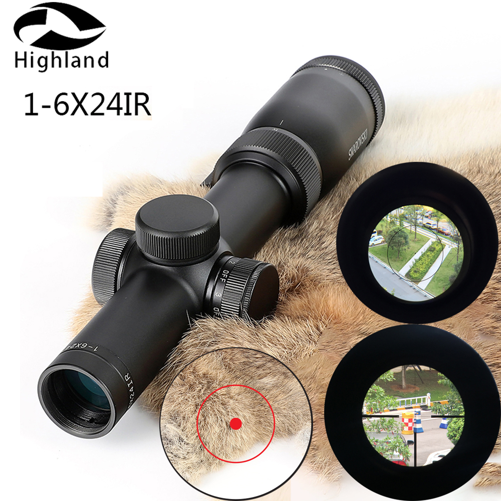 Tactical Imitation Riflescope 1-6x24IRZ3 F15 Or F101 Circle Dot Sight Glass Etched Reticle Optical Scope Hunting RifleScope
