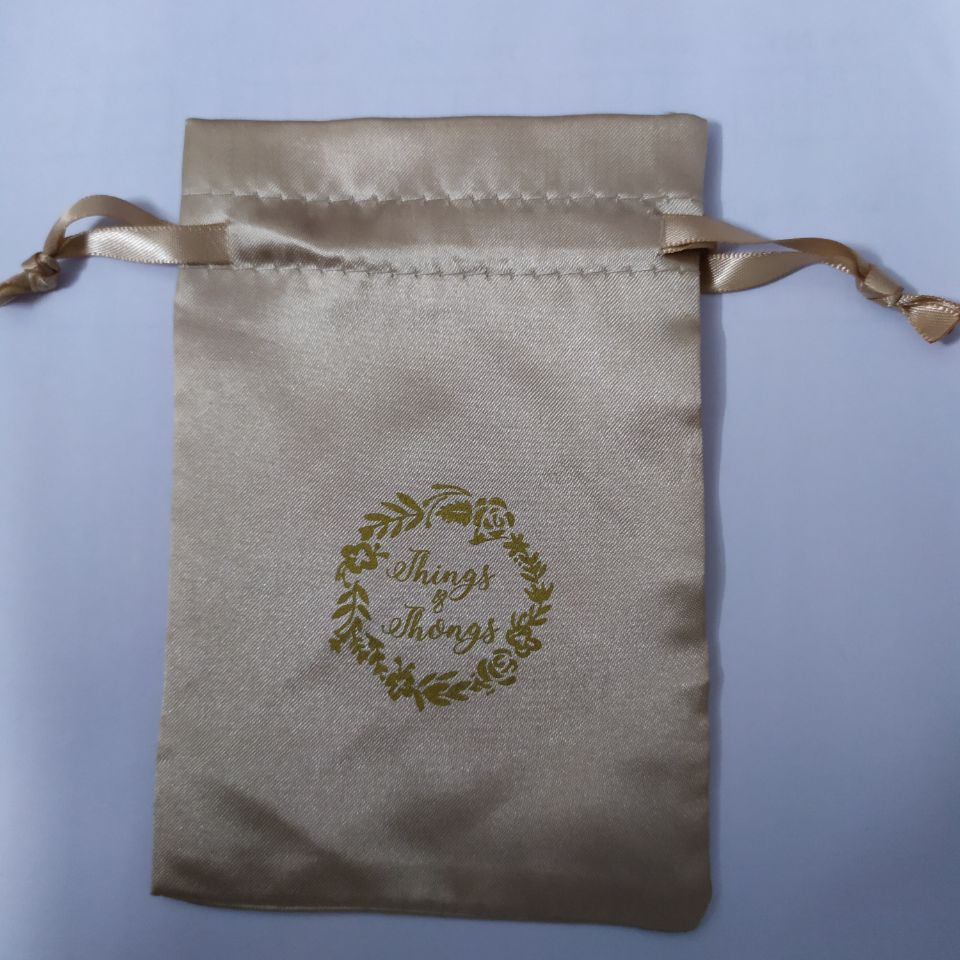 100pcs High Quality Small Satin Drawstring Pouches Satin Jewelry Gift Bags Custom 7*9cm Storage And Packaging Bag