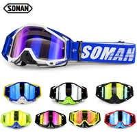 Gafas para casco de Motocross SOMAN, Gafas todoterreno para Moto de Cross, Gafas antipolvo para Motocross, Gafas para motocicleta SM11