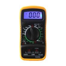 XL830L Portable Digital Multimeter AC/DC Ammeter Voltmeter Ohm Handheld Mini Tester Meters LCD Backlight Resistance Transistors
